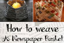 Newspaper Crafts / Learn how to make Newspaper Crafts with interesting ideas! #NewspaperCrafts #NewspaperBags #NewspaperBaskets #NewspaperHats and more