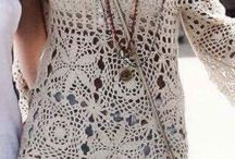 crochet tunique beige