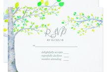 Watercolor Spring Birch Tree Wedding Suite / If you require more products with the same theme contact this Designer.