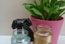 DIY Reciclaje potitos para meter brochas y pinceles