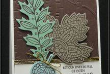 Cards using Vintage Leaves & Lighthearted Leaves  / by Rita Day