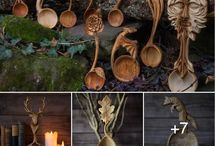 Wood / Beautiful wooden pieces, wooden carvings, wood utensils