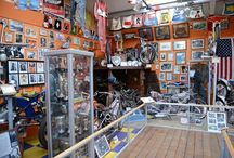 The National Speedway Museum. / Peter Sampson owner of Paradise Wildlife Park, was an accomplished Speedway rider in the 1960's. He rode for teams such as Hackney, Swindon, Newcastle, Rye House and Rayleigh. The Speedway Museum is located at Paradise Wildlife Park.