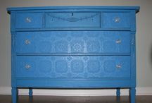 Furniture with paintable wallpaper