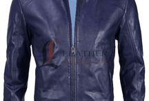 Slim Fit Blue Jacket / Slim Fit Jackets Collection on LeathersJacket.com at Discount Price.
