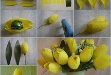 fiori stoffa e carta
