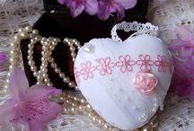 Heart - srdce, dekorace Shabby Chic