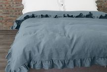 Linen Bedding in French Blue / 0