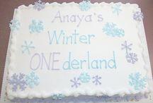 1St Birthday Girl Theme Winter
