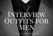 Interview/ Work Attire: Men / Not sure what to wear in your next interview? How about in the workplace? Here is some inspiration.  Note: pins are not endorsements