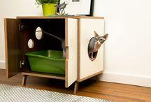 Chats : caisse à litière