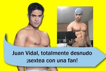 Juan Vidal, totalmente desnudo ¡sextea con una fan!