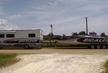 Big Ole Boats / Take a look at some of the bigger boats we get in here for trailer repair.  That's a BIG boat!