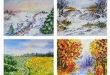 Imagens - Quatro estações / Pintura, ilustração e arte decorativa