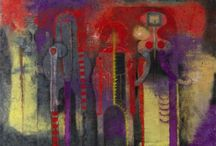 """August 2013 - Art Bead Scene Monthly Challenge / August brings us """"Tres Personajes"""", (Three People) 1970 by Rufino Tamayo"""