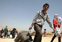 Éxodo sirio hacia Irak / El éxodo sirio es el mayor desde que comenzó el conflicto armado en marzo de 2011. Más de 7 millones de desplazados en situación de emergencia