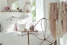 Charming shabby chic / The main characteristic of shabby chic interior design is aged furniture. It could be chosen for its appearance of age with all these sings of wear and tear or it can be distressed to achieve the appearance of an antique. That is a quite soft style which fits perfectly for cottages but can be used at your home too. It easily can add a feminine touch to any interior and make it quite unique.  / by The French Bedroom Company