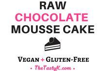 Vegan raw choc mouse cake