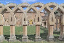 Claustros / Colección de fotos referentes a claustros de estilo románico, gótico y renacentistas