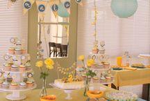 aniversário azul e amarelo