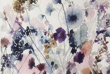 6 акварельные цветы