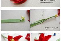 virág dekorgumiból