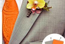 Idée mariage orange rouge exotique