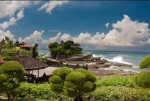 Beautiful Tanah Lot Temple / one of Bali's most popular Hindu Temples. It is also most famous for its breath taking sunset views.