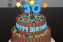 m&m and kit kat cake birthday cake
