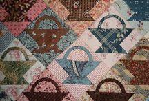 paniers en patchwork