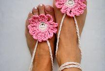 accesorii crosetate pt picioare / accesorii crosetate pt picioare