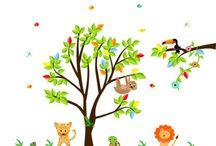 Rainforest Wall decals