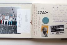 journey notebook and collage