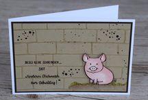 stampin up Schweinchen