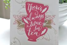 Stampin' Up! A Nice Cuppa / Darling ideas to create handstamped projects using the A Nice Cuppa stamp set and coordinating Cups & Kettle Framelits featured on page 34 of the 2016 Stampin' Up! Occasions catalog. To purchase products please visit my website: http://www.stampinup.net/esuite/home/krystalscards/ / by Krystal's Cards - Stampin' Up!
