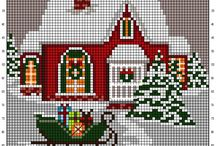 Cross stitch about christmas