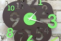 clocks / creativity meets times   #minimalstyle #wood metal concrete