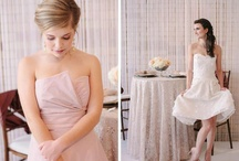 blush bridesmaids dresses / Soft and almost-neutral, blush bridesmaids dresses are classic, timeless, and oh-so-flattering for your favorite gals.