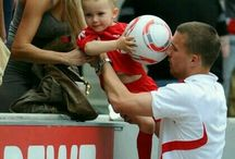 Lukas Podolski / Lukas Podolski Josef was born on 4 June 1985 in Gliwice, Poland is a German footballer .Lukas Podolski was the son Waldemar Podolski football former player and former handball player Krystyna Podolska in a Catholic class family average in Gliwice born and comes from Sosnica Quarter. In 1987 On April 18, 2011 he married his longtime girlfriend in Cologne] with a son The church wedding took place on June 11, 2011