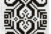 Landsbyliv Votter og småstrikk / knitting