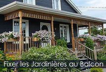 Construire un Bac à Fleurs ou Jardinière en bois - Les étapes / Fabrication de balconnières ou boîtes à fleurs en bois. Instructions détaillées et illustrations. Idée de bricolage.