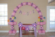 baby shower cradle decor