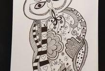 Zen doodles / Kun for sjov