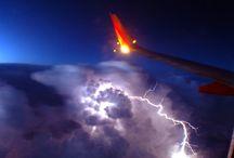 Déšť bouřky blesky