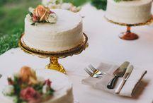 Simple White Cake Inspiration / Simple and stylish white iced cake inspiration / ideas