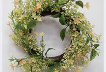 Венки декоративные. Decorative wreaths. / Венки декоративные - Венки пасхальные, весенние, на дверь, на голову.