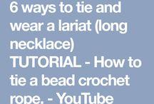 Tying bead crochet necklaces