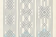Patterns (geometric, Early medieval style etc.) / for embroidery