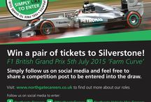Formula 1 competition / Want to win ticket to the Formula 1 British Grand Prix in July 2015? Simply follow us on any of our social media platforms and RT, share or re-pin!