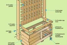 Maceteros de madera cemento